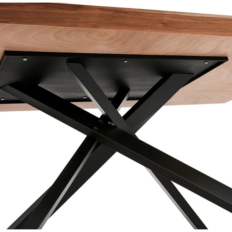 Table à manger design en bois et métal noir (200x100 cm) CATHALINA (noyer) - image 48928