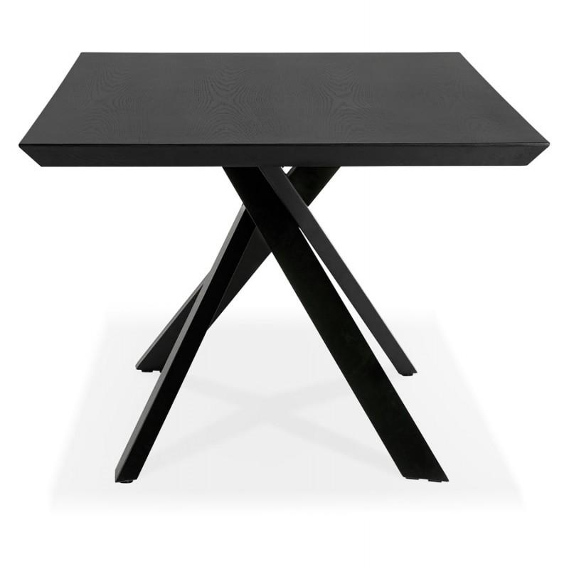 Esstisch aus Holz und schwarz Metall (200x100 cm) CATHALINA (schwarz) - image 48945
