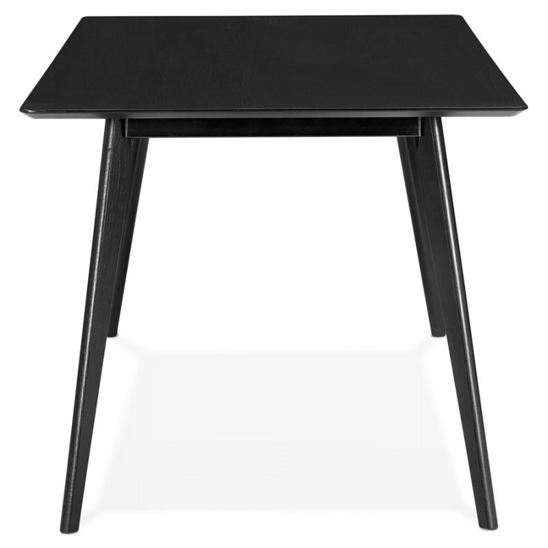Table à manger design ou bureau en bois (180x90 cm) ZUMBA (noir) - image 48955