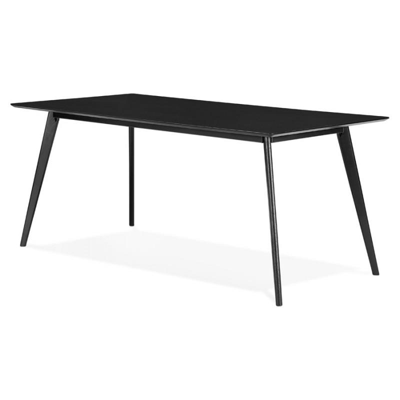 Table à manger design ou bureau en bois (180x90 cm) ZUMBA (noir) - image 48956
