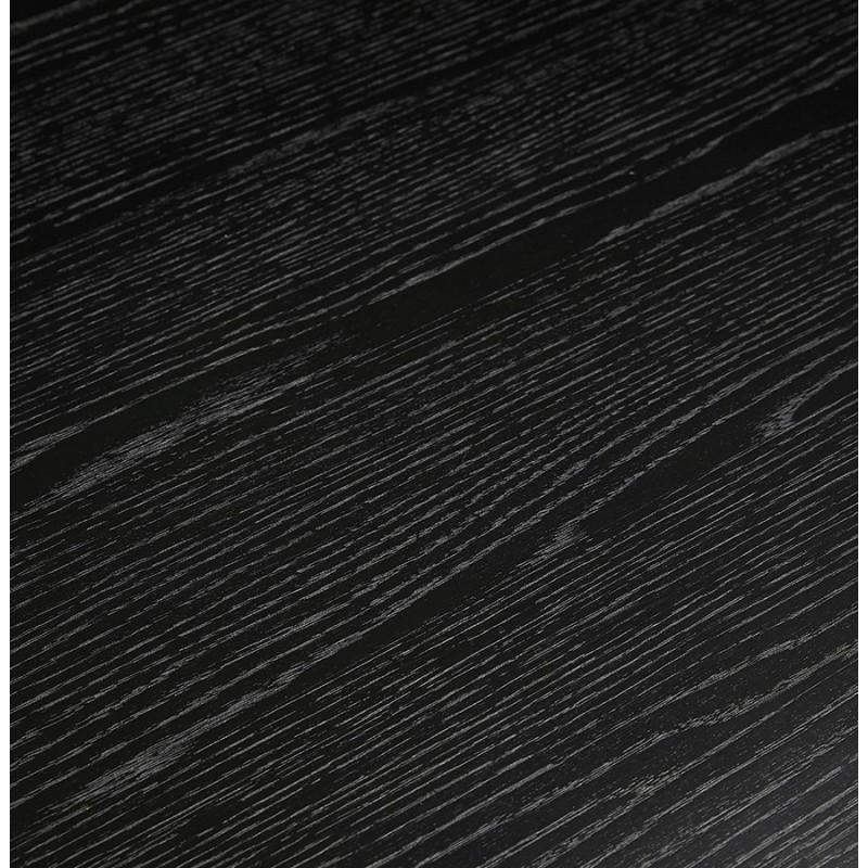 Table à manger design ou bureau en bois (180x90 cm) ZUMBA (noir) - image 48958