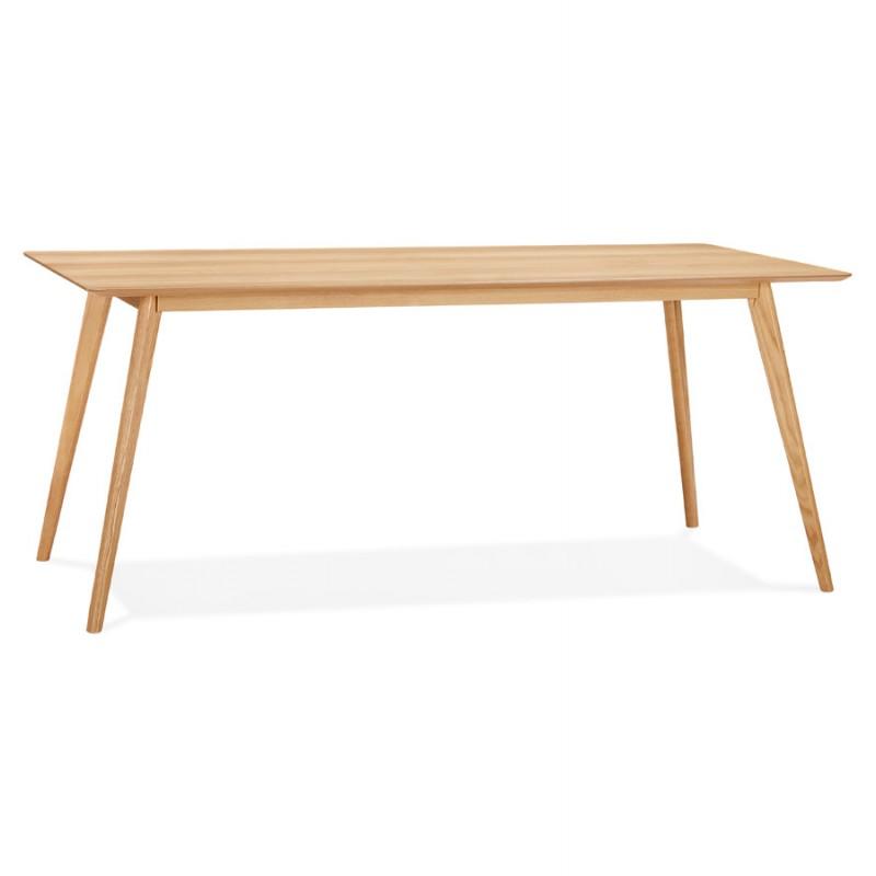 Table à manger design ou bureau style scandinave en bois (180x90 cm) ZUMBA (naturel)