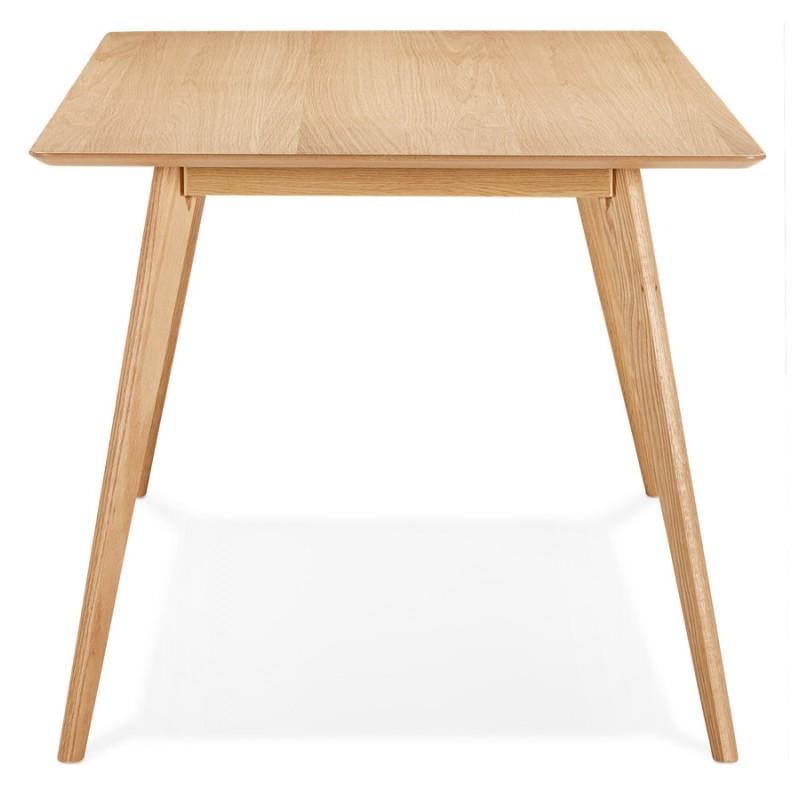 Table à manger design ou bureau style scandinave en bois (180x90 cm) ZUMBA (naturel) - image 48966