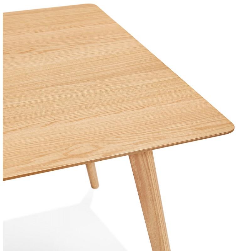 Mesa o escritorio de diseño de madera de estilo escandinavo (180x90 cm) ZUMBA (natural) - image 48968