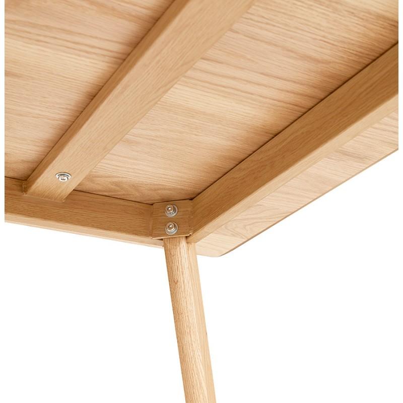 Mesa o escritorio de diseño de madera de estilo escandinavo (180x90 cm) ZUMBA (natural) - image 48970