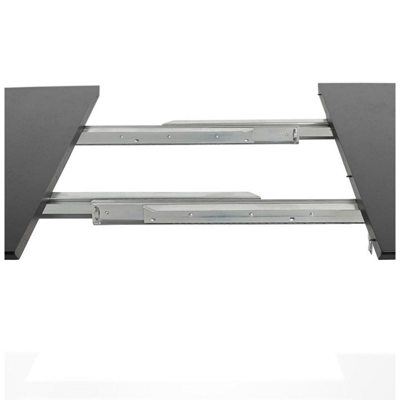 Table à manger extensible en bois et pieds chromé (170/270cmx100cm) RINBO (noir) - image 49025