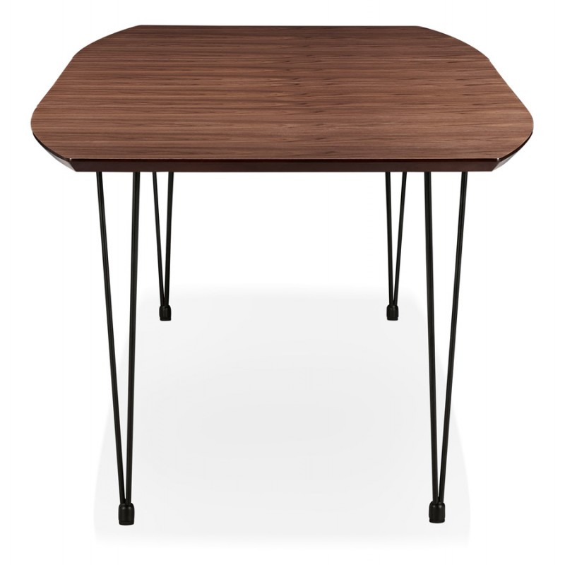 Ausziehbarer Esstisch aus Holz und schwarze Füße (170/270cmx100cm) LOANA (drowning) - image 49028