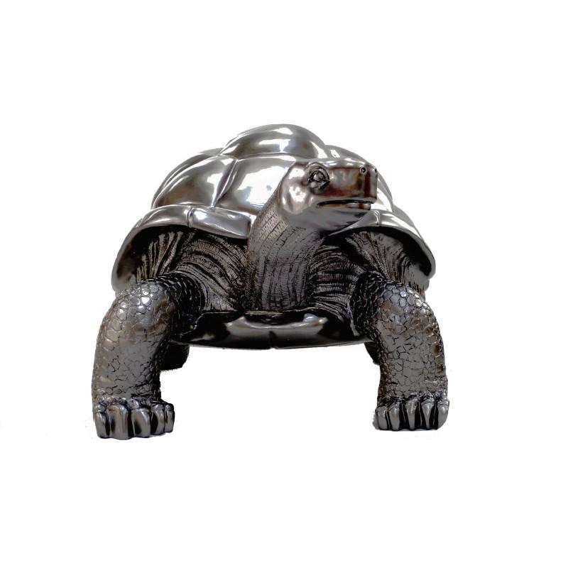 Estatua de tortuga diseño escultura decorativa en resina (plata) - image 49089