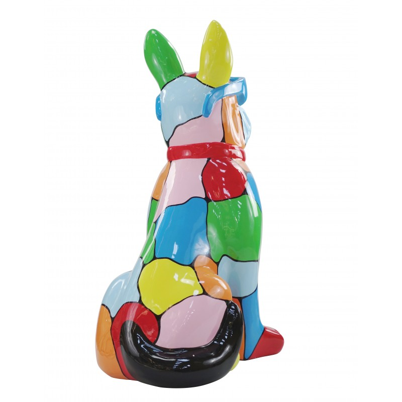 Resin statue sculpture decorative design dog A glasses standing H102 (multicolor) - image 49173