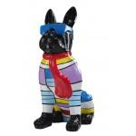 Statuette Design dekorative Skulptur Hundesitting H100 im Harz (multicolor)