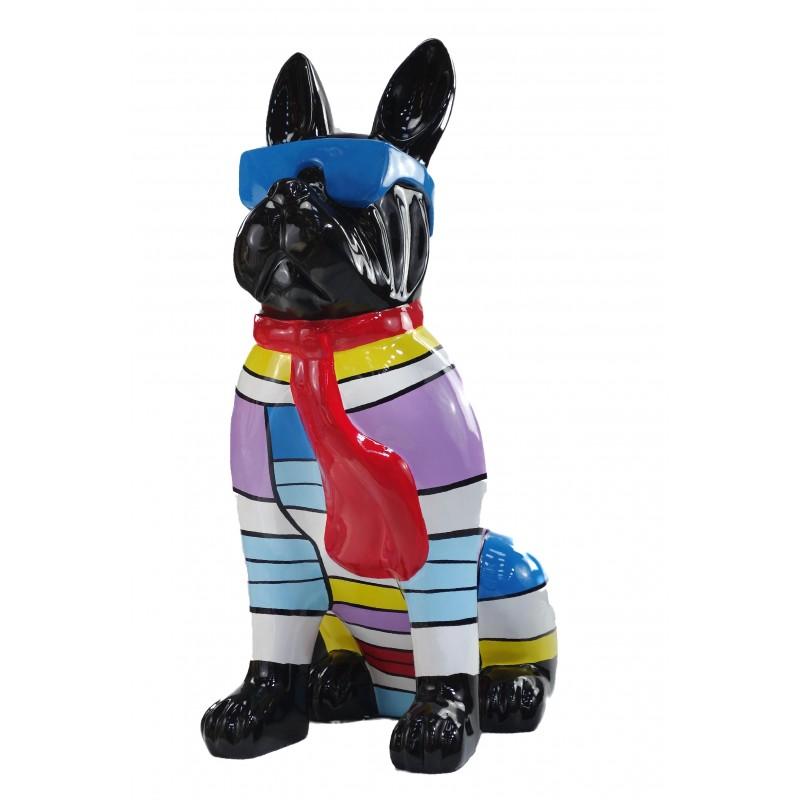 Statuette Design dekorative Skulptur Hundesitting H100 im Harz (multicolor) - image 49209