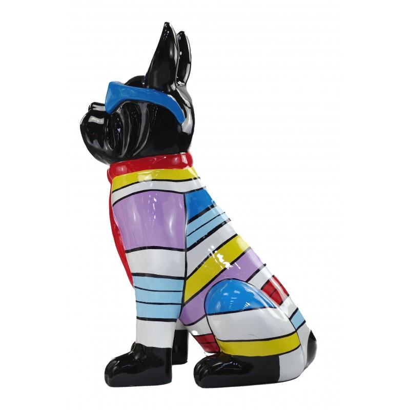 Statuette Design dekorative Skulptur Hundesitting H100 im Harz (multicolor) - image 49210