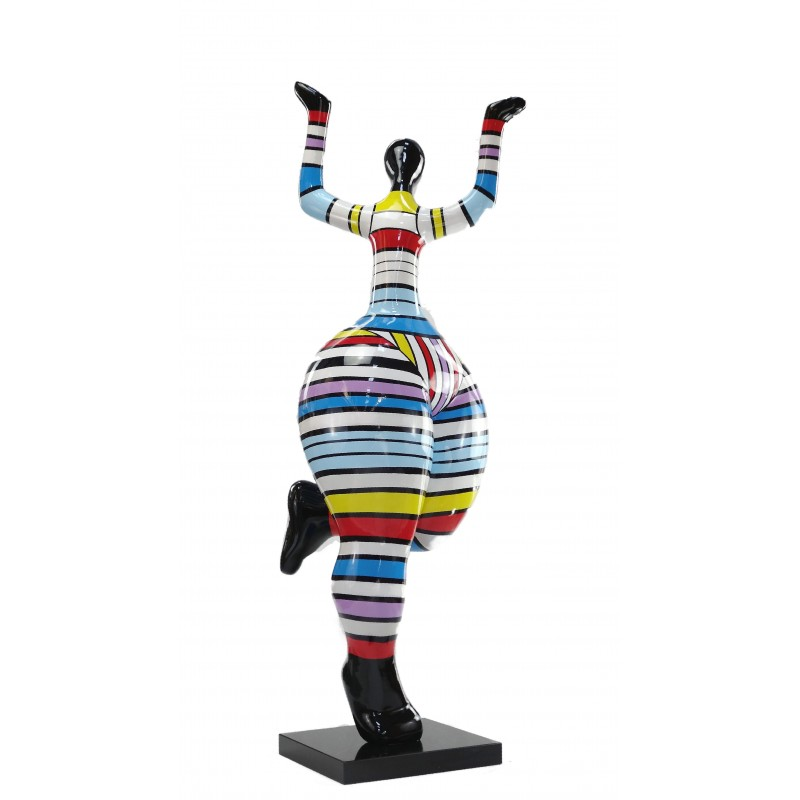 Statuette design decorative sculpture woman dancer in resin (multicolor) - image 49214