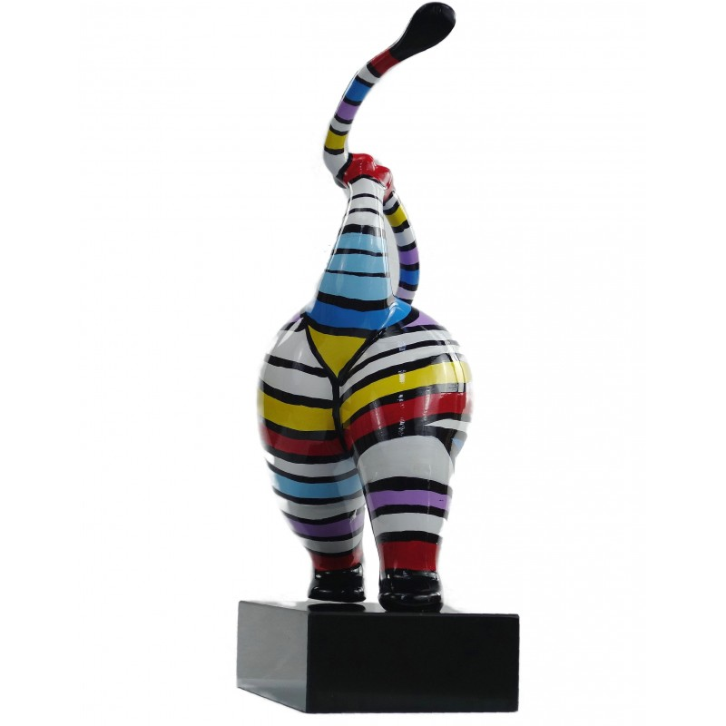 Statuette design decorative sculpture woman standing in resin H61 (multicolor) - image 49220
