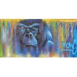 Tableau Street Art GORILLE (Blau)