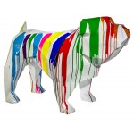 Statue decorative sculpture design CHIEN GEOMETRIC in resin H103 cm (Multicolored)