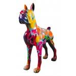 Statue decorative sculpture design CHIEN STANDING ART XXL in resin H150 cm (Multicolored)