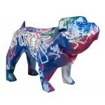 Statua disegno scultura decorativa CHIEN DEBOUT STREET ART in resina H103 cm (Multicolore)