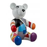 Statue sculpture décorative design NOUNOURS HONEY en résine H100 cm (Multicolore)