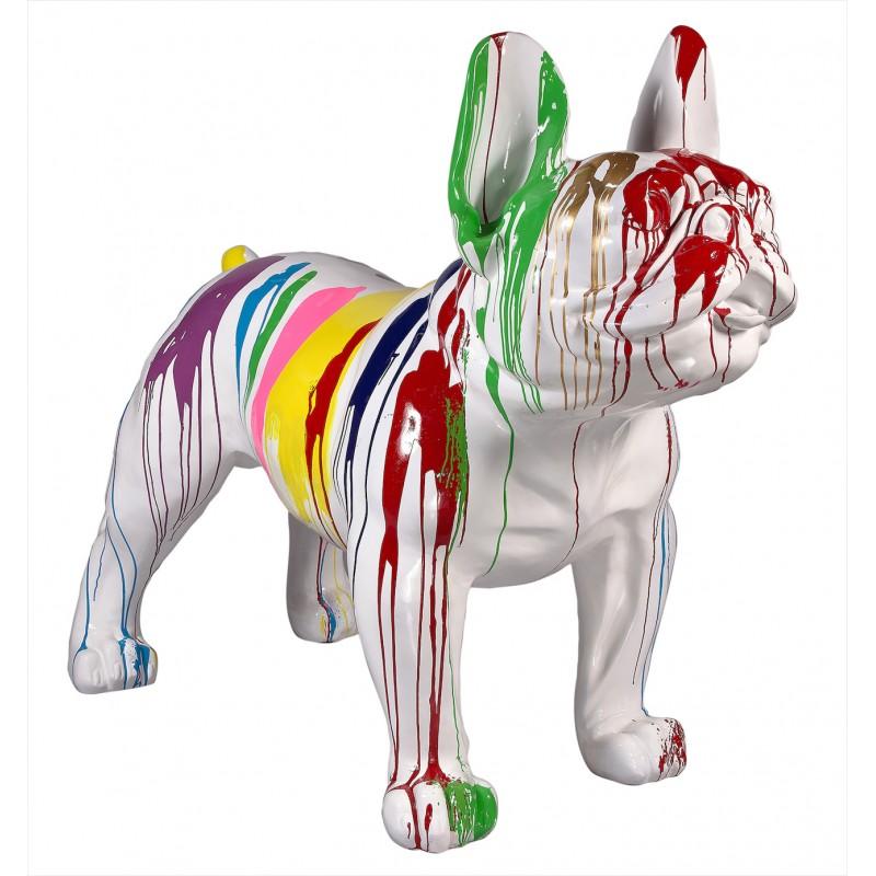 Statue sculpture décorative design CHIEN XL en résine H140 cm (Multicolore)