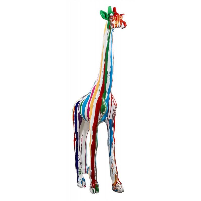 Statue sculpture décorative design GIRAFE TRASH en résine H198 cm (Multicolore) - image 49289