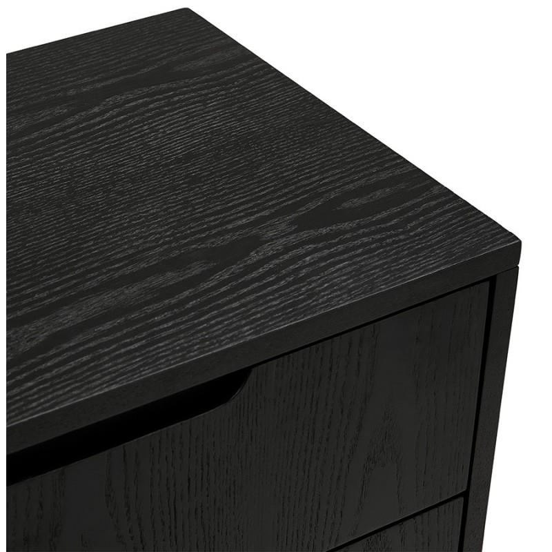 Buffet enfilade design 2 portes 3 tiroirs en bois  MELINA (noir) - image 49337