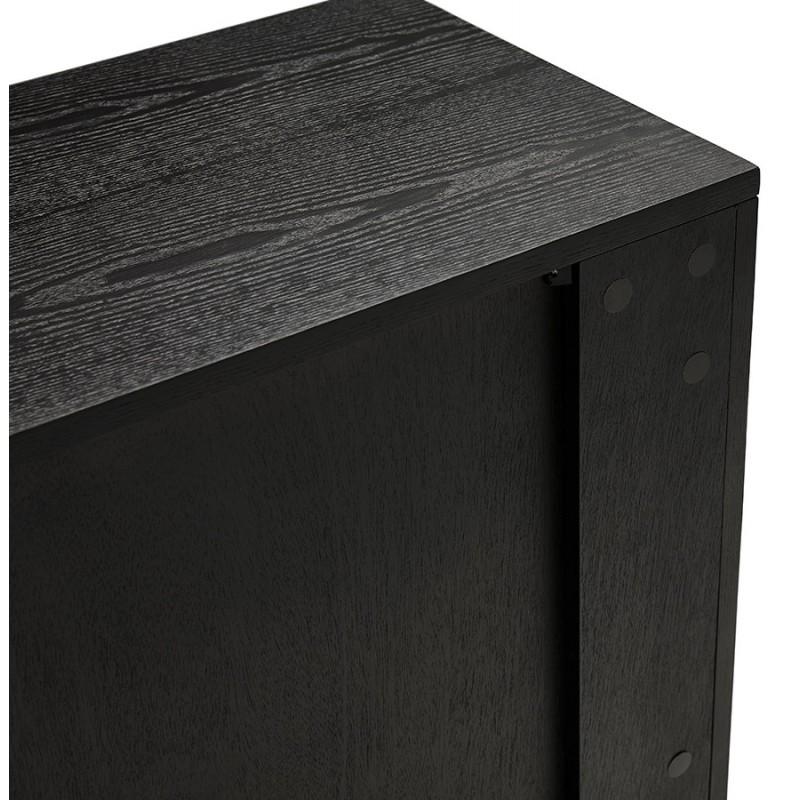 Buffet enfilade design 2 portes 3 tiroirs en bois  MELINA (noir) - image 49340