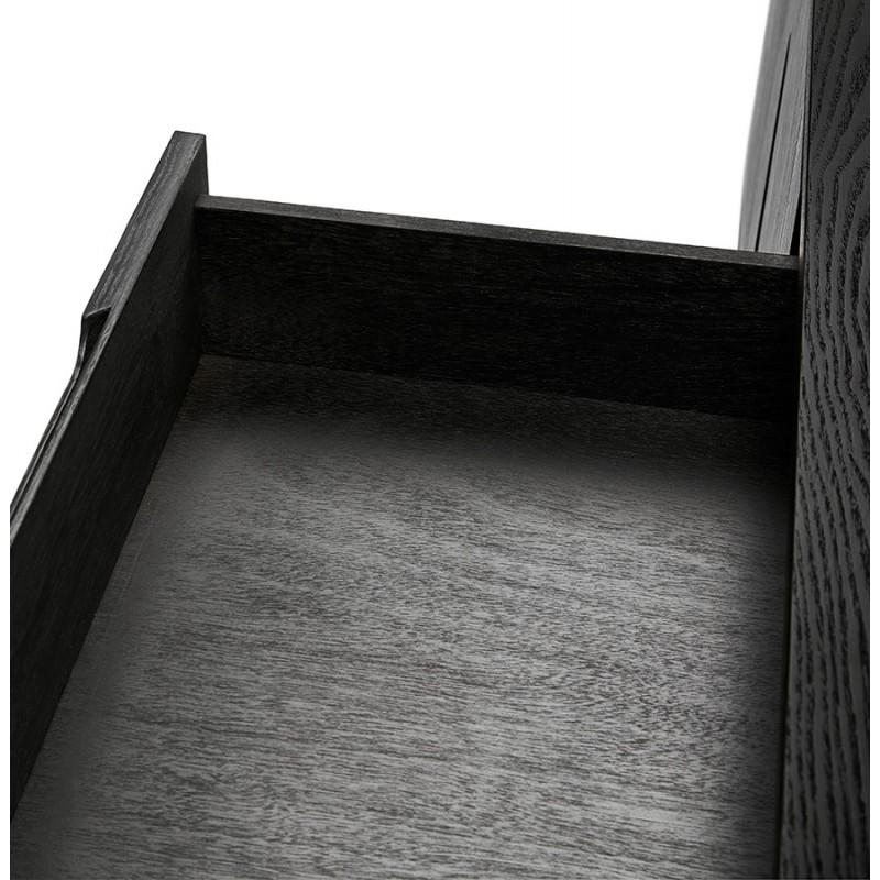 Buffet enfilade design 2 portes 3 tiroirs en bois  MELINA (noir) - image 49342