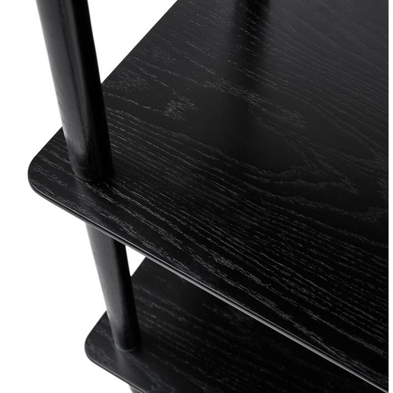 Etagère bibliothèque design style scandinave en chêne ERIKA (noir) - image 49373