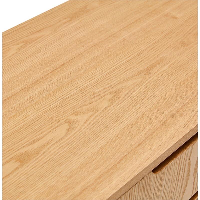 Buffet enfilade design 2 portes 3 tiroirs en bois MELINA (naturel) - image 49398
