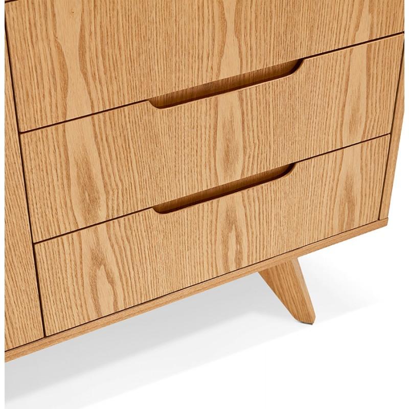 Buffet enfilade design 2 portes 3 tiroirs en bois MELINA (naturel) - image 49400