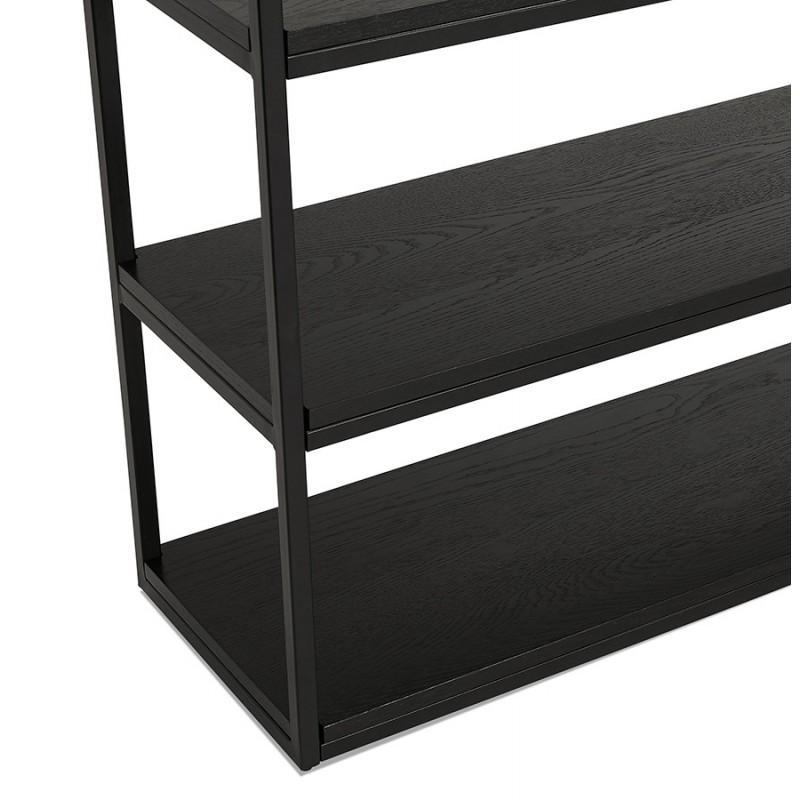 Etagère bibliothèque design style industriel en bois et métal AKARI (noir) - image 49411