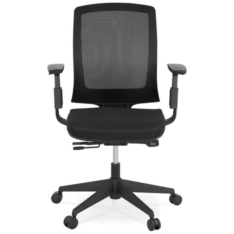Fauteuil de bureau ergonomique en tissu KAORI (noir) - image 49429
