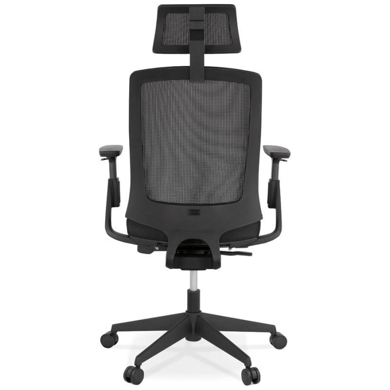 Fauteuil de bureau ergonomique en tissu KAORI (noir) - image 49432