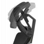 Fauteuil de bureau ergonomique en tissu KAORI (noir)