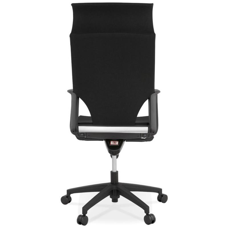 Schreibtischsessel aus AYUMI Stoff (schwarz) - image 49448