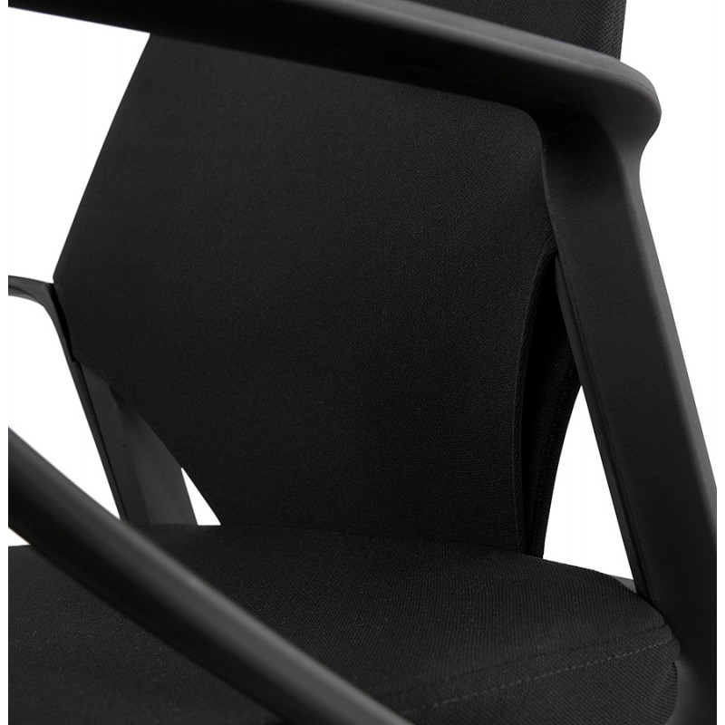 Fauteuil de bureau en tissu AYUMI (noir) - image 49452