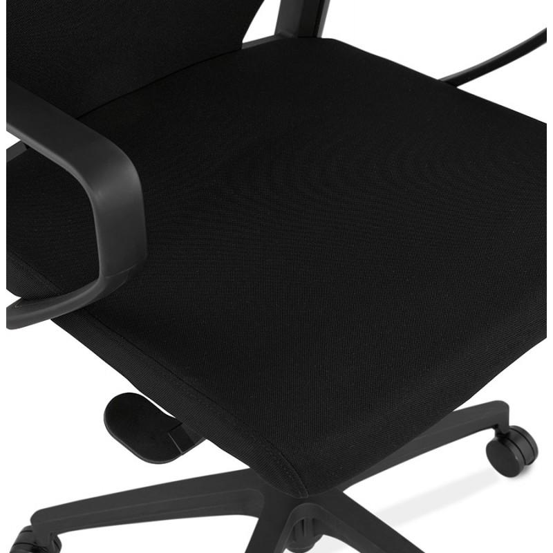 Fauteuil de bureau en tissu YOKO (noir) - image 49468