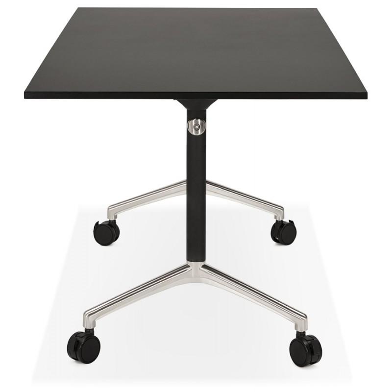 Falttisch auf Rädern aus Holz schwarze Füße SAYA (160x80 cm) (schwarz) - image 49489