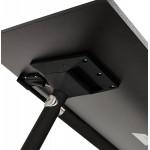 Table pliante sur roulettes  en bois pieds noirs SAYA (160x80 cm) (noir)
