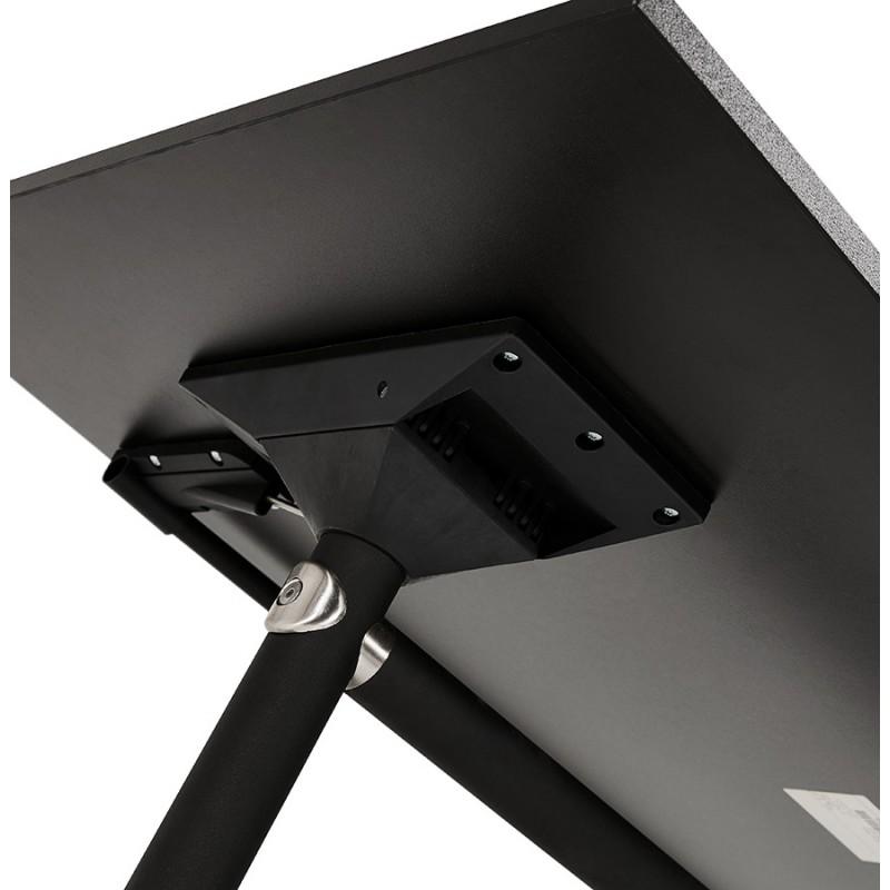 Table pliante sur roulettes  en bois pieds noirs SAYA (160x80 cm) (noir) - image 49496