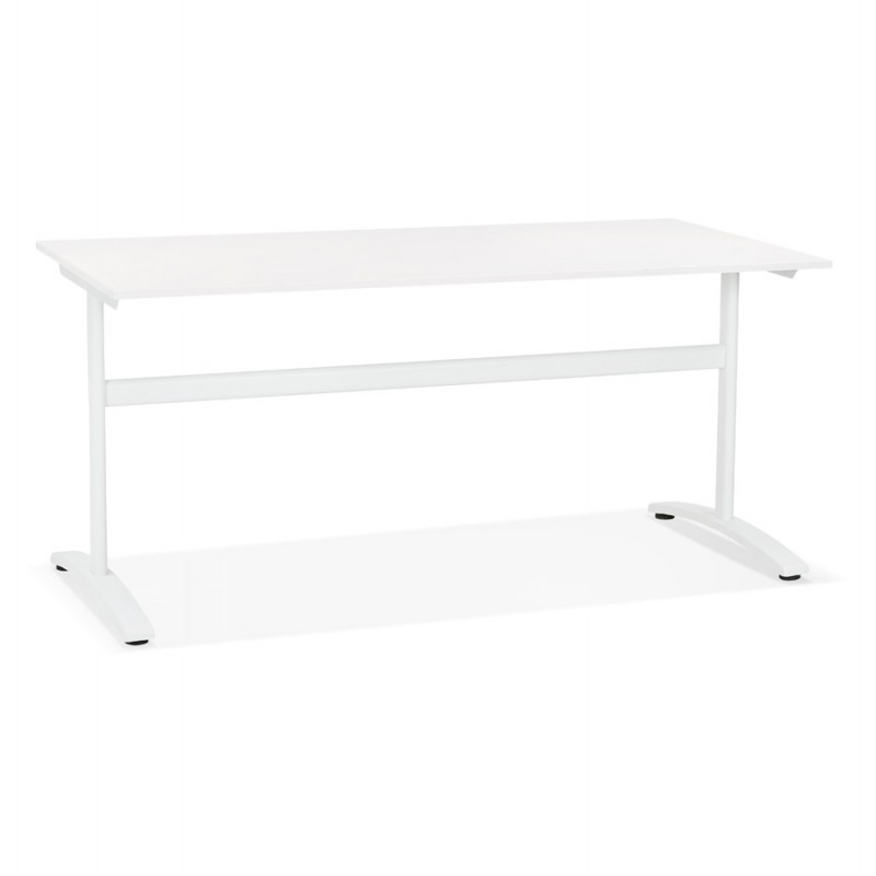 SONA white-footed wooden right desk (160x80 cm) (white)