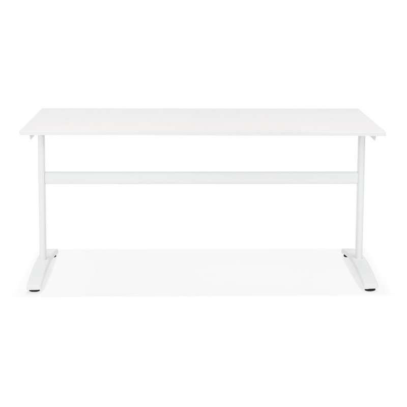 SONA white-footed wooden right desk (160x80 cm) (white) - image 49501