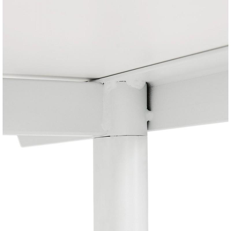 Bureau droit en bois pieds blanc SONA (160x80 cm) (blanc) - image 49506