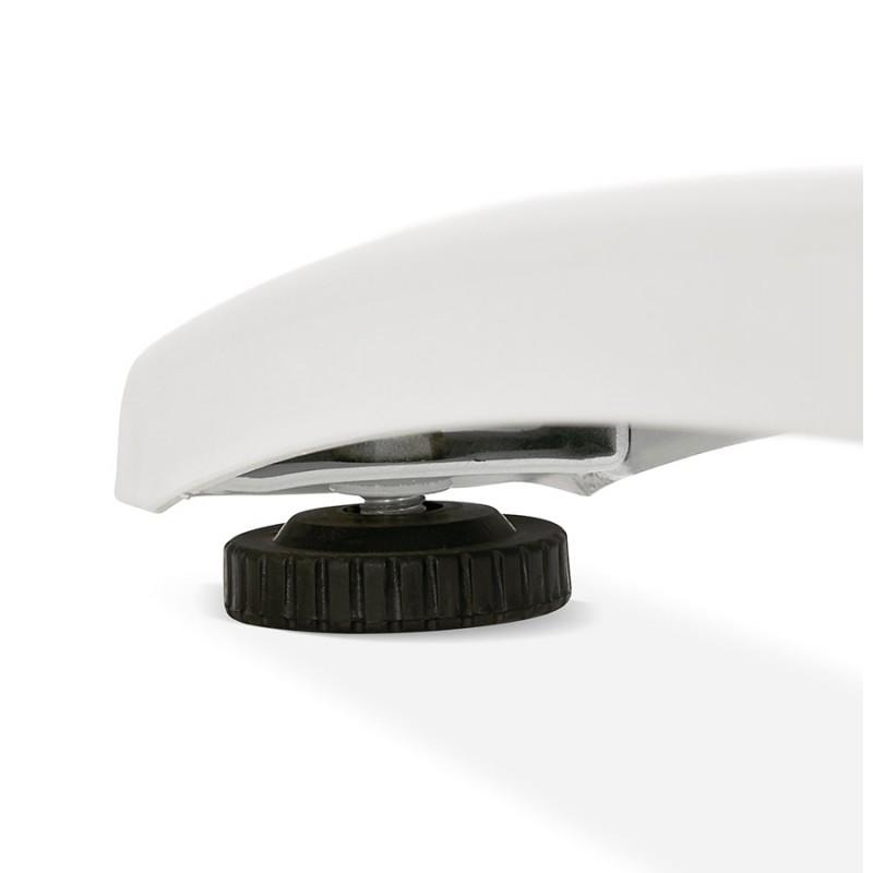 Bureau droit en bois pieds blanc SONA (160x80 cm) (blanc) - image 49509