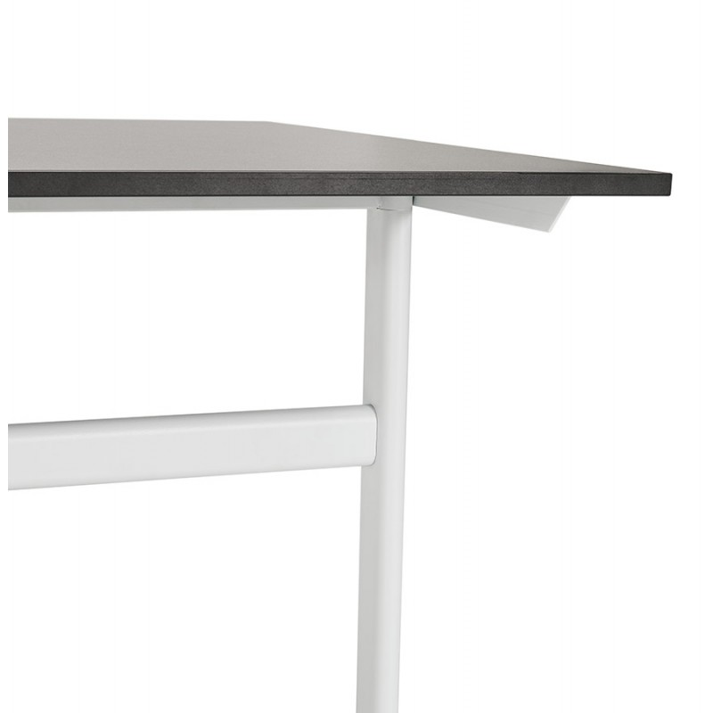 SONA white-footed wooden right desk (160x80 cm) (black) - image 49515