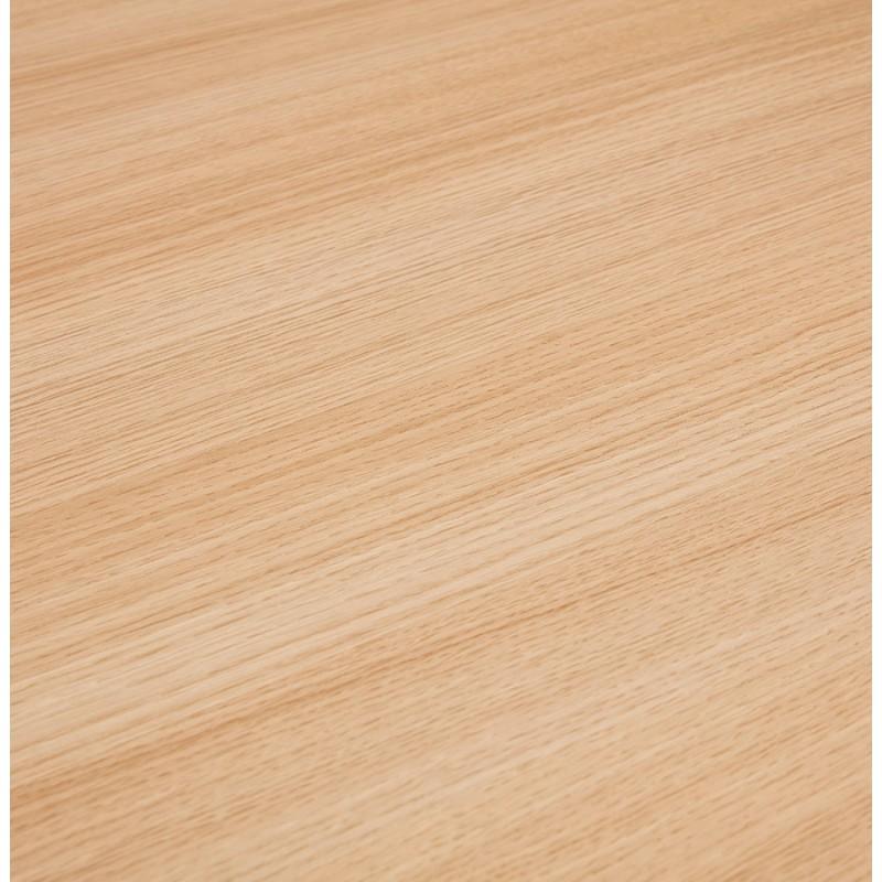 Bureau droit en bois pieds blanc SONA (160x80 cm) (finition naturelle) - image 49524