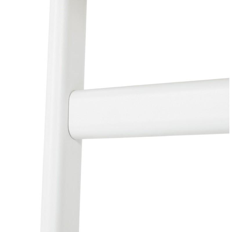 Bureau droit en bois pieds blanc SONA (160x80 cm) (finition naturelle) - image 49526
