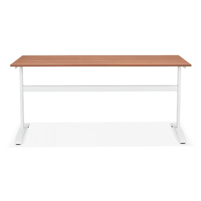 SONA white-footed wooden right desk (160x80 cm) (walnut finish) - image 49531