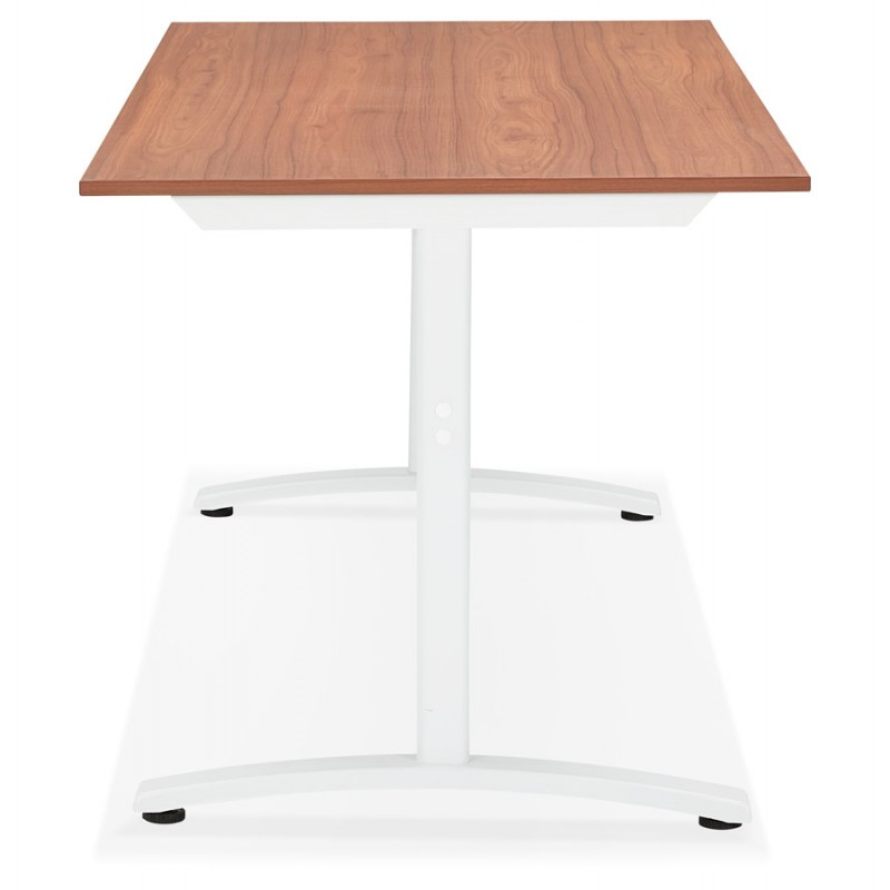 SONA white-footed wooden right desk (160x80 cm) (walnut finish) - image 49532